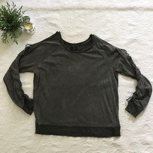 Lucky Brand Cold Shoulder Sweatshirt